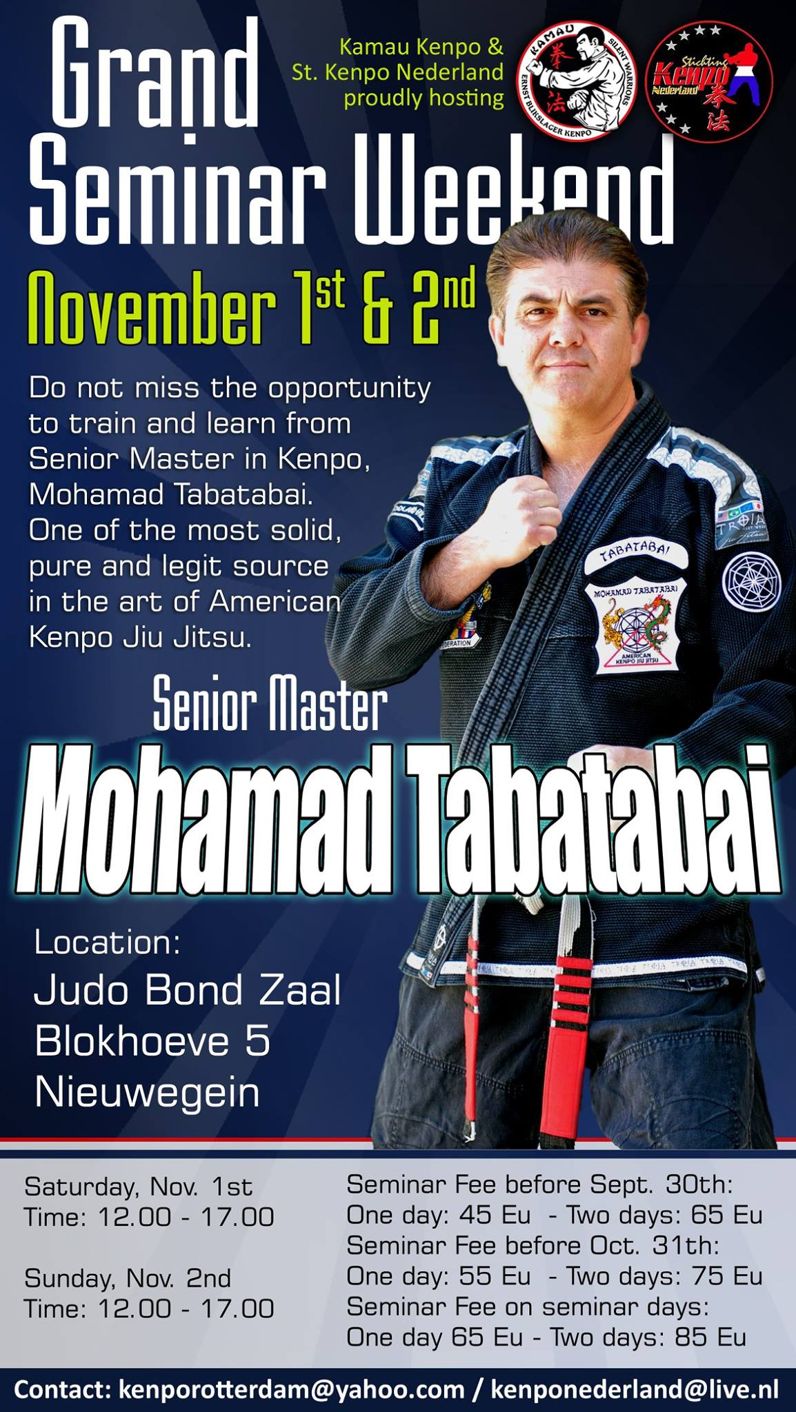 Poster Mohamad Tabatabai Seminar Kenpo Jiu Jitsu
